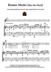 Besame Mucho Kiss Me Much guitar score download Bocelli