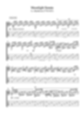 Moonlight Sonata Guitar Solo Sheet Music Beethoven