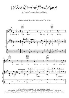 What Kind Of Fool Am I guitar fingerstyle score download