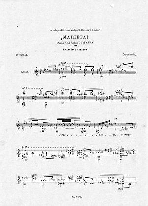 Rosita  - Marieta. Polka - Mazurka by Tarrega