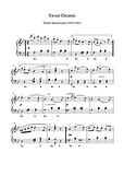 Sweet Dreams Piano Solo Sheet Music Pdf Mp3 Baranowska