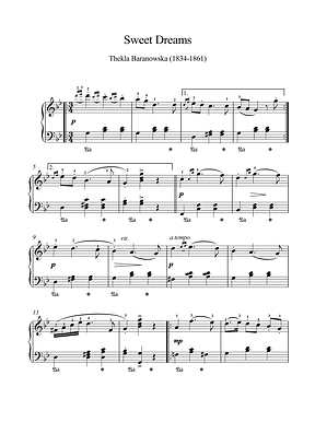 Sweet Dreams Piano Solo Sheet Music Pdf Mp3 Baranowska
