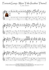 Forrest Gump - Main Title (feather Theme) guitar score download Movie Themes