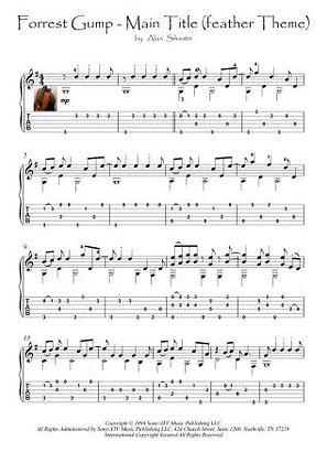 Forrest Gump - Main Title (feather Theme) guitar score download