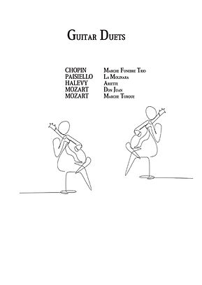 Classical Guitar Duets score download by Chopin, Mozart, Paisiello, Halevy