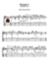 Gavotte 1 Bwv 1012 Guitar Score by Bach