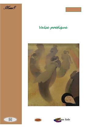 Valse Poetique piano solo sheet music