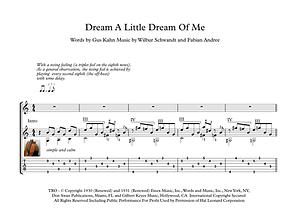Dream A Little Dream Of Me Guitar Sheet Music The Mamas & The Papas