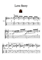 Love Story guitar solo music sheet download Movie Themes Rota