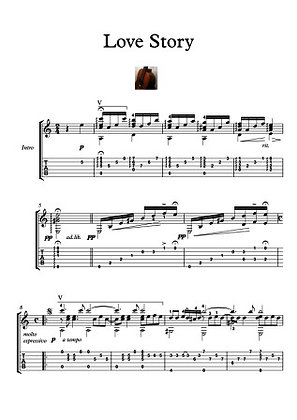 Love Story guitar solo music sheet download