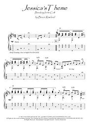 Jessica's Theme (breaking In The Colt) guitar fingerstyle score download