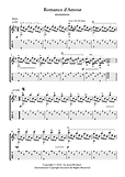 Romance D Amour Guitar Solo Sheet Music By Anonymous