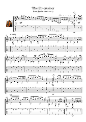 The Entertainer Guitar Solo Sheet Music Joplin