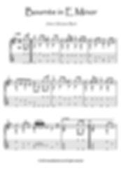 BWV 996 Bouree guitar score download Bach
