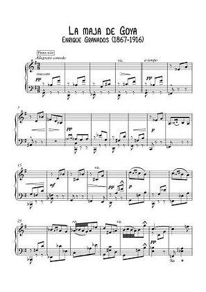La maja de Goya by Enrique Granados piano solo pdf download