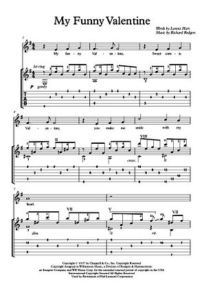 My funny Valentine classical guitar solo sample