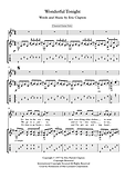 Wonderful Tonight Guitar Solo Sheet Music Clapton