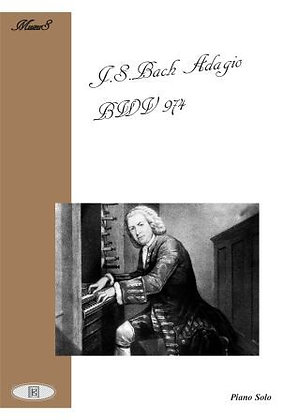 Adagio BWV 974 piano solo sheet music