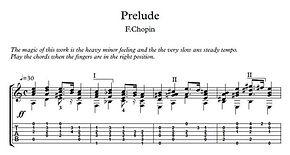 Prelude 20 Guitar Solo Sheet Music Chopin