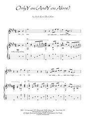 Only You (and You Alone) guitar fingerstyle score download