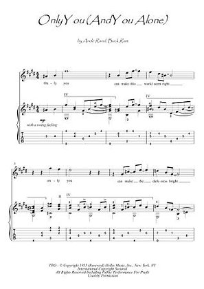 Only You guitar fingerstyle score download