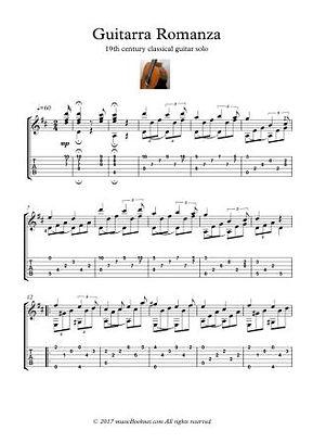 Classical Guitar Hits Guitarra Romanza Anonymous