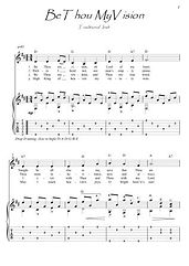 Be Thou My Vision guitar fingerstyle score download