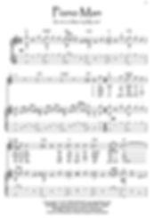 Piano Man guitar fingerstyle score download