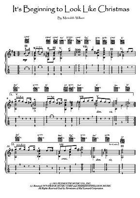 It's Beginning To Look Like Christmas guitar sheet music Willson