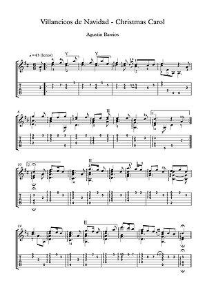 Villancicos de Navidad guitar solo sheet music