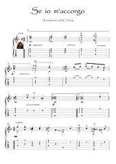 Se Io m' Accorgo renaissance Guitar score download