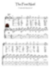 The First Noel guitar fingerstyle easy score download