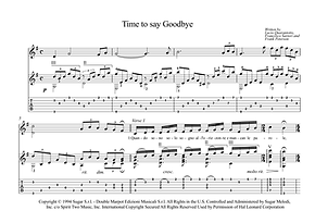 Time To Say Goodbye Guitar Sheet Music Bocelli