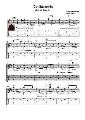 Dedicatoria Guitar Solo by Granados