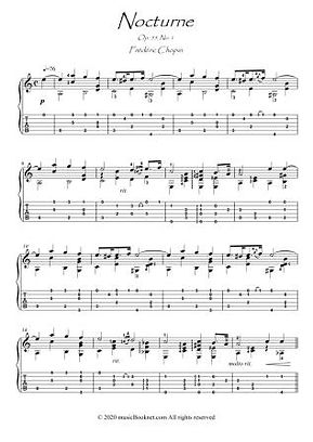 Nocturne 55-1 by Chopin for guitar solo