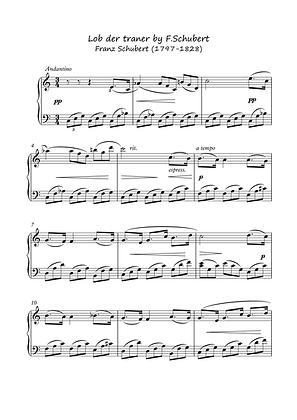 Lob der Traner by Schubert piano solo sheet music