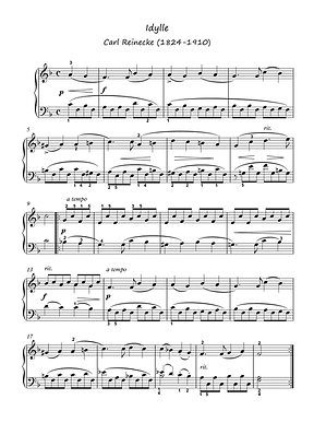 Ave Maria Idylle Piano Solo Sheet Music Pdf Mp3 Bergmiller Reinecke
