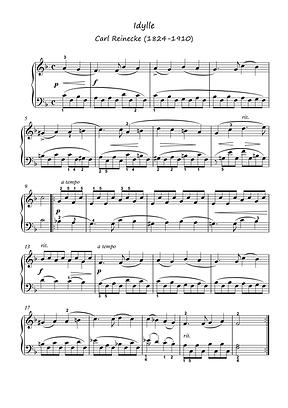 Ave Maria Idylle Piano Solo Sheet Music Pdf Mp3 Bergmiller Reinecke