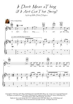 It Don't Mean A Thing guitar swing fingerstyle score download