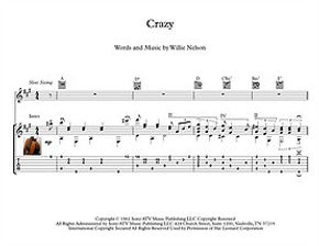 Crazy By Willie Nelson Guitar Sheet Music