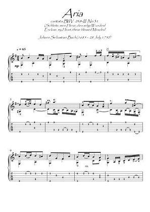 Bach BWV 248 No 31 guitar score download