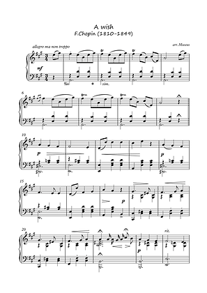 A Wish by Chopin piano solo sheet music