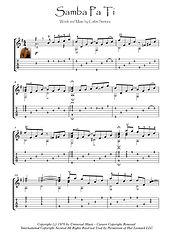 Samba Pa Ti Guitar solo music score download Santana