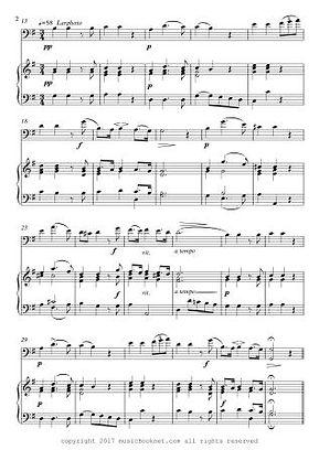 Air De Rinaldo Cello Piano Duet by Handel