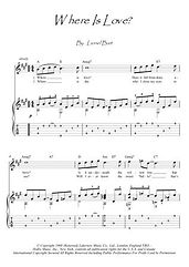 Where Is Love? guitar score download