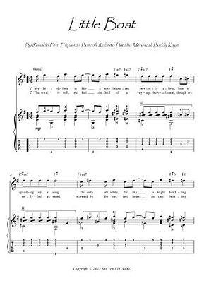 Little Boat O Barquinho guitar fingerstyle score download