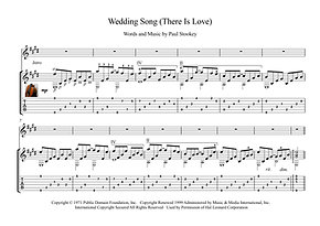 Wedding Song There Is Love Guitar Sheet Music Stookey