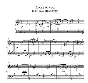 Close To You Pasillio Piano Solo Sheet Music Pdf Mp3 Pino
