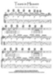 Tears In Heaven easy guitar fingerstyle music score Clapton