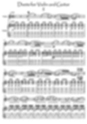 Violin Guitar II duet music score download Bergmiller